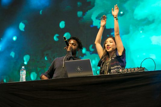 Tokimonsta and Isaiah Rashad // Photo by Philip Cosores