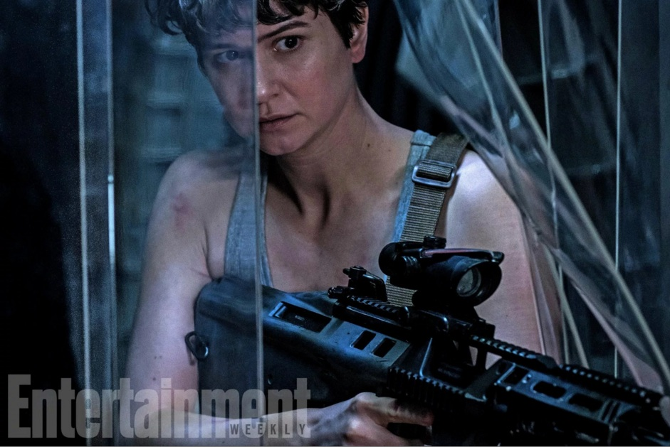 katherine waterston alien See new photos from Ridley Scott's Alien: Covenant, James Franco joins the cast
