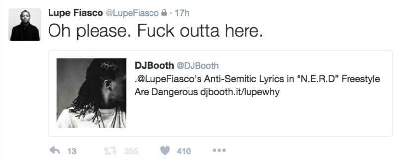 lupe retirement tweet 1 Lupe Fiasco says hes officially not releasing anymore music in wake of controversy over anti Semitic lyrics