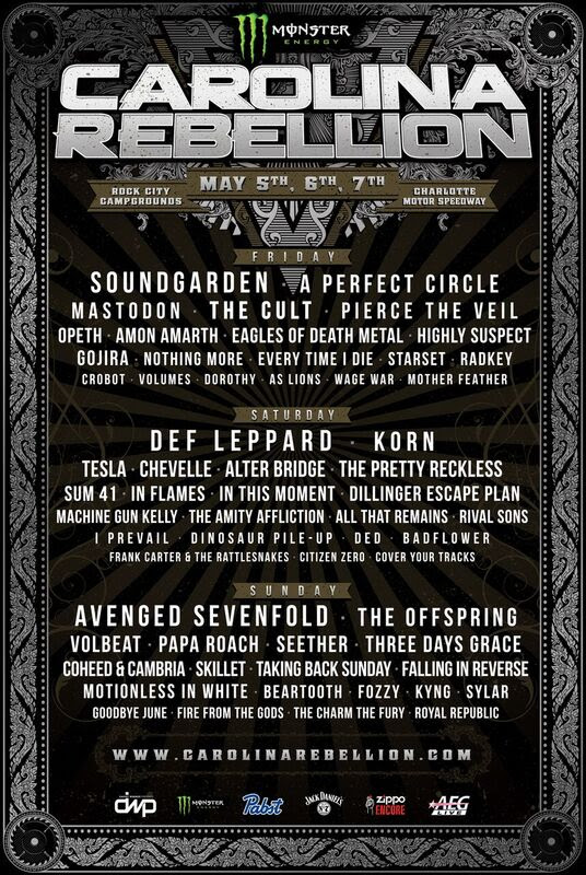 unnamed 3 Soundgarden, A Perfect Circle to headline Carolina Rebellion 2017