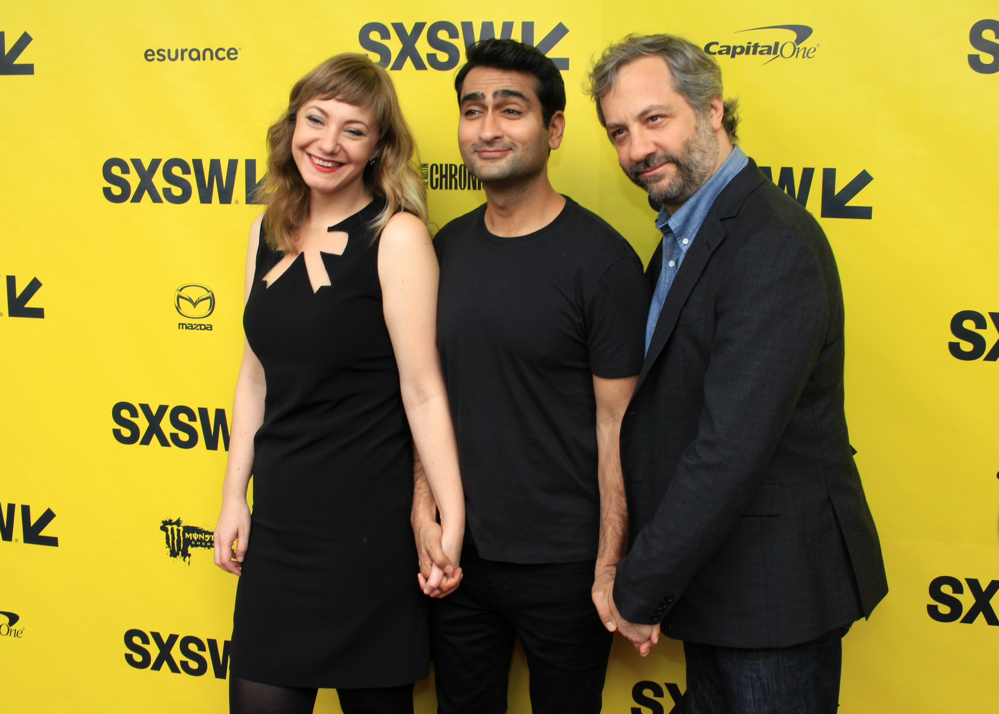 Emily V. Gordon, Kumail Nanjiani, and Judd Apatow // The Big Sick // Photo by Heather Kaplan