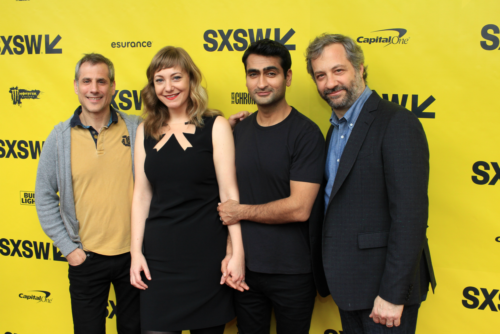 Barry Mendel, Emily V. Gordon, Kumail Nanjiani, and Judd Apatow // The Big Sick // Photo by Heather Kaplan