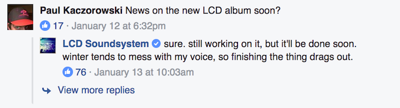 lcd soundsystem new album 2017 update James Murphy offers update on new LCD Soundsystem album, says itll be done soon