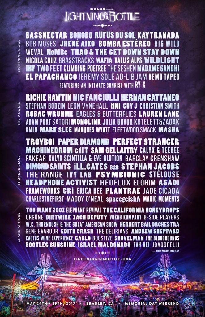 lib 2017 lineup poster lores Lightning in a Bottle reveals 2017 lineup