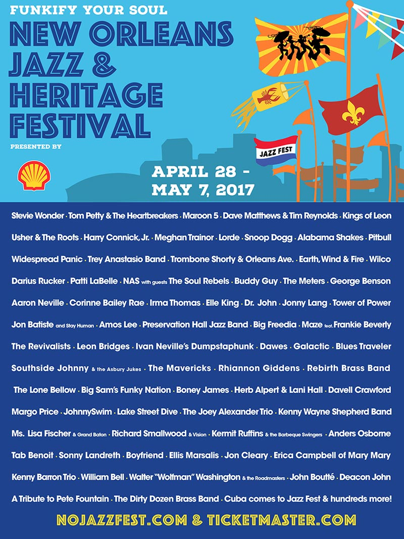 new orleans jazz fest New Orleans Jazz Fest reveals 2017 lineup: Tom Petty, Stevie Wonder, Lorde, Nas, Wilco, and more