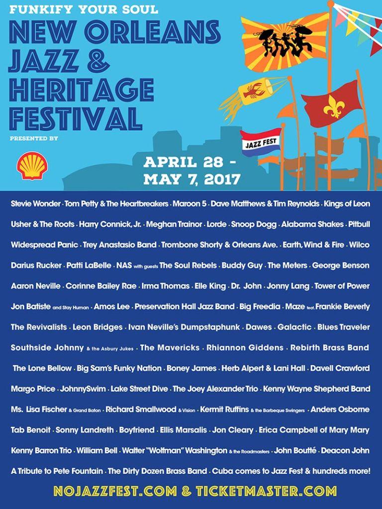 New Orleans Jazz Fest 2020 Lineup.New Orleans Jazz Fest Reveals 2017 Lineup Tom Petty Stevie