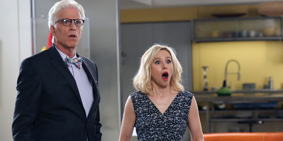ted danson and kristen bell in the good place season 1 finale Every Show Worth Watching This Winter On Network TV and Basic Cable