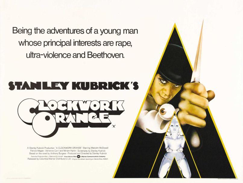 a clockwork orange poster goldposter com 43 10 Iconic Films That Never Won a Single Oscar