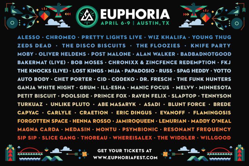 euph cos lineup 1 Euphoria Festival reveals complete lineup for 2017