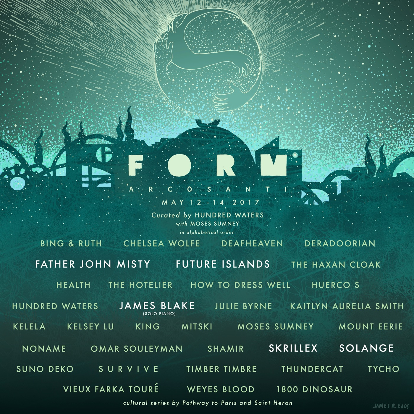 form arcosanti 2017 art final Solange, James Blake, Father John Misty to play FORM Arcosanti 2017