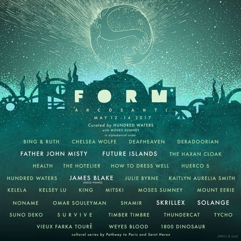 form arcosanti 2017 art final Solange, James Blake, Father John Misty to play FORM Arcosanti 2017