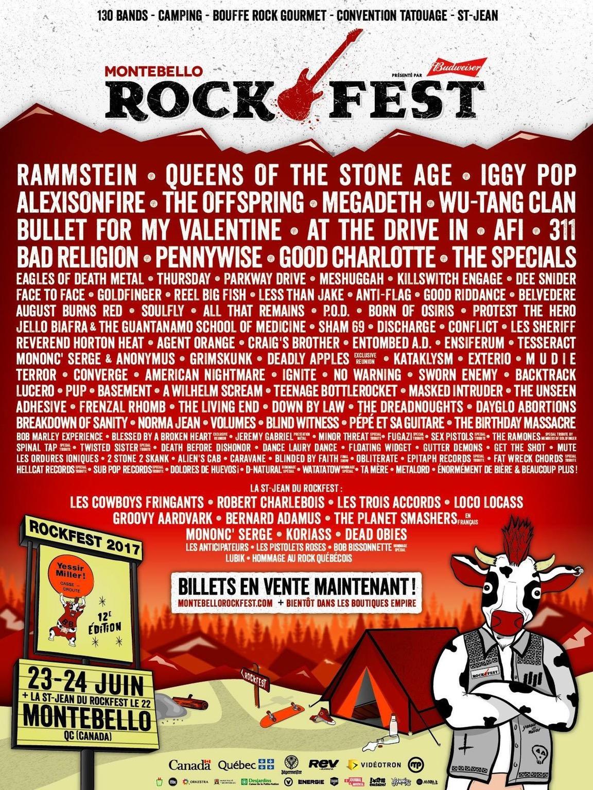 Montebello Rockfest reveals 2017 lineup: Rammstein, QOTSA, Iggy Pop to headline