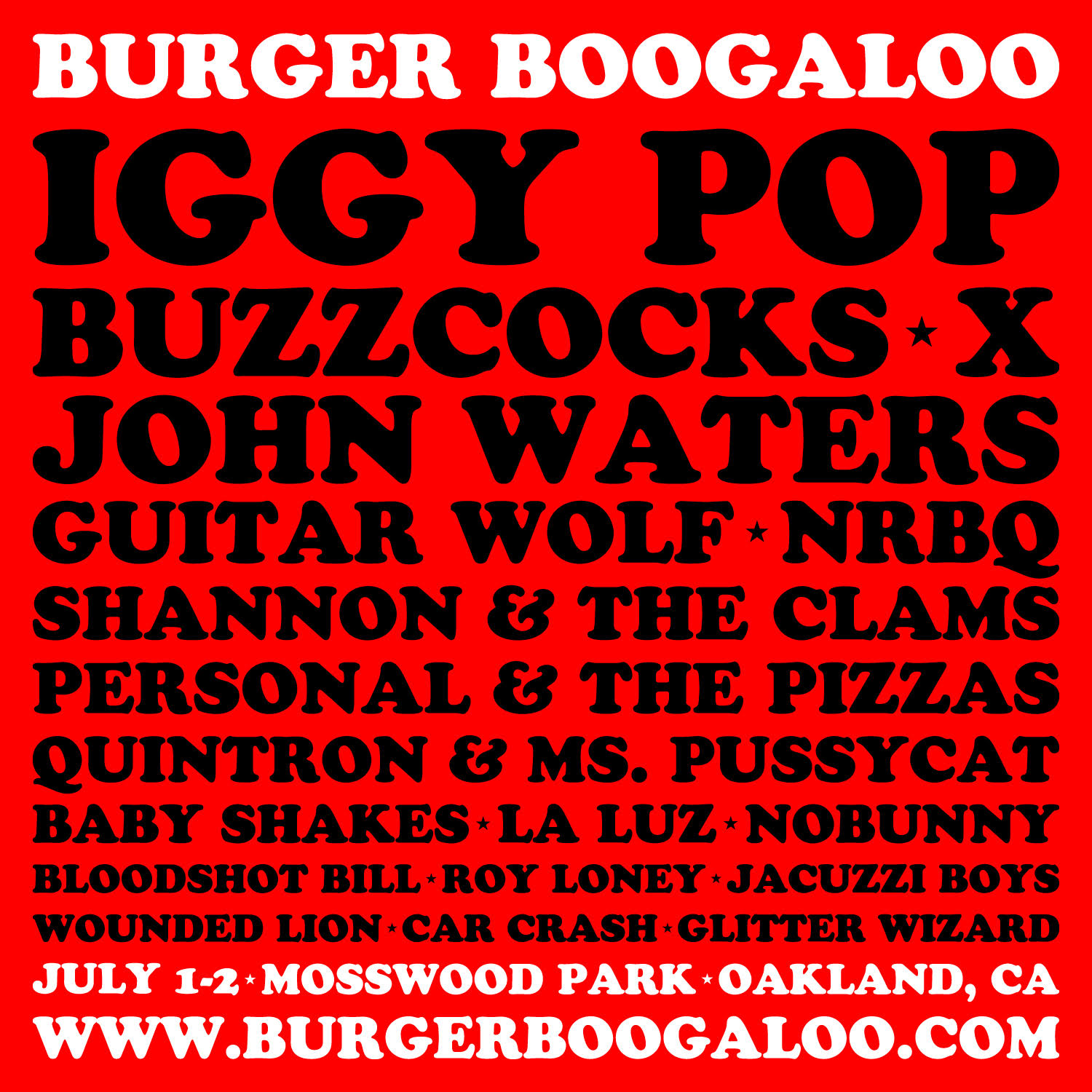 unnamed2 Burger Boogaloo announces 2017 lineup: Iggy Pop, Buzzcocks, X, and more
