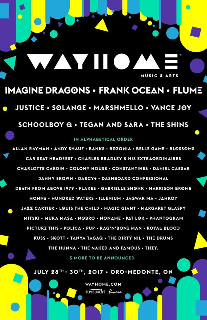 wayhome 2017 WayHome Festival reveals 2017 lineup: Frank Ocean, Solange, Flume, and more