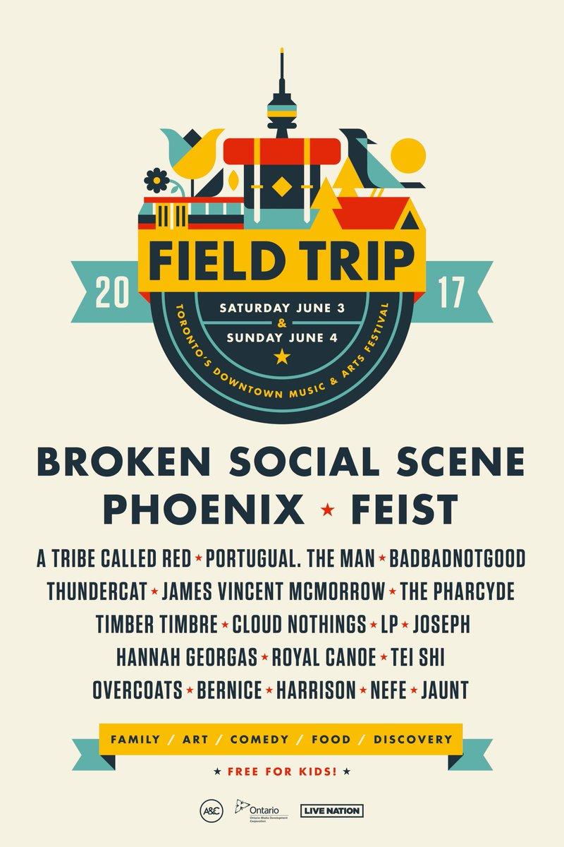 field trip 2017 Broken Social Scene, Feist, Phoenix to play Torontos Field Trip Festival