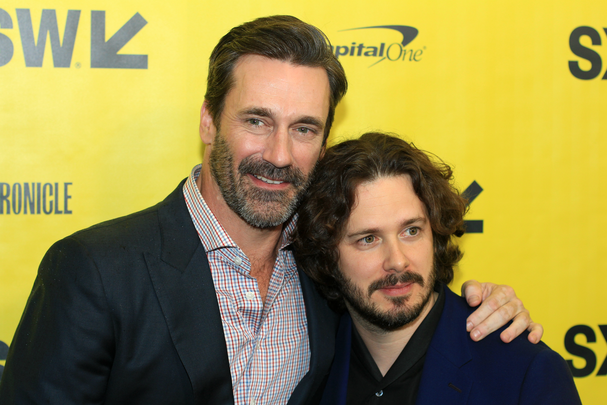Jon Hamm and Edgar Wright // Baby Driver // Photo by Heather Kaplan