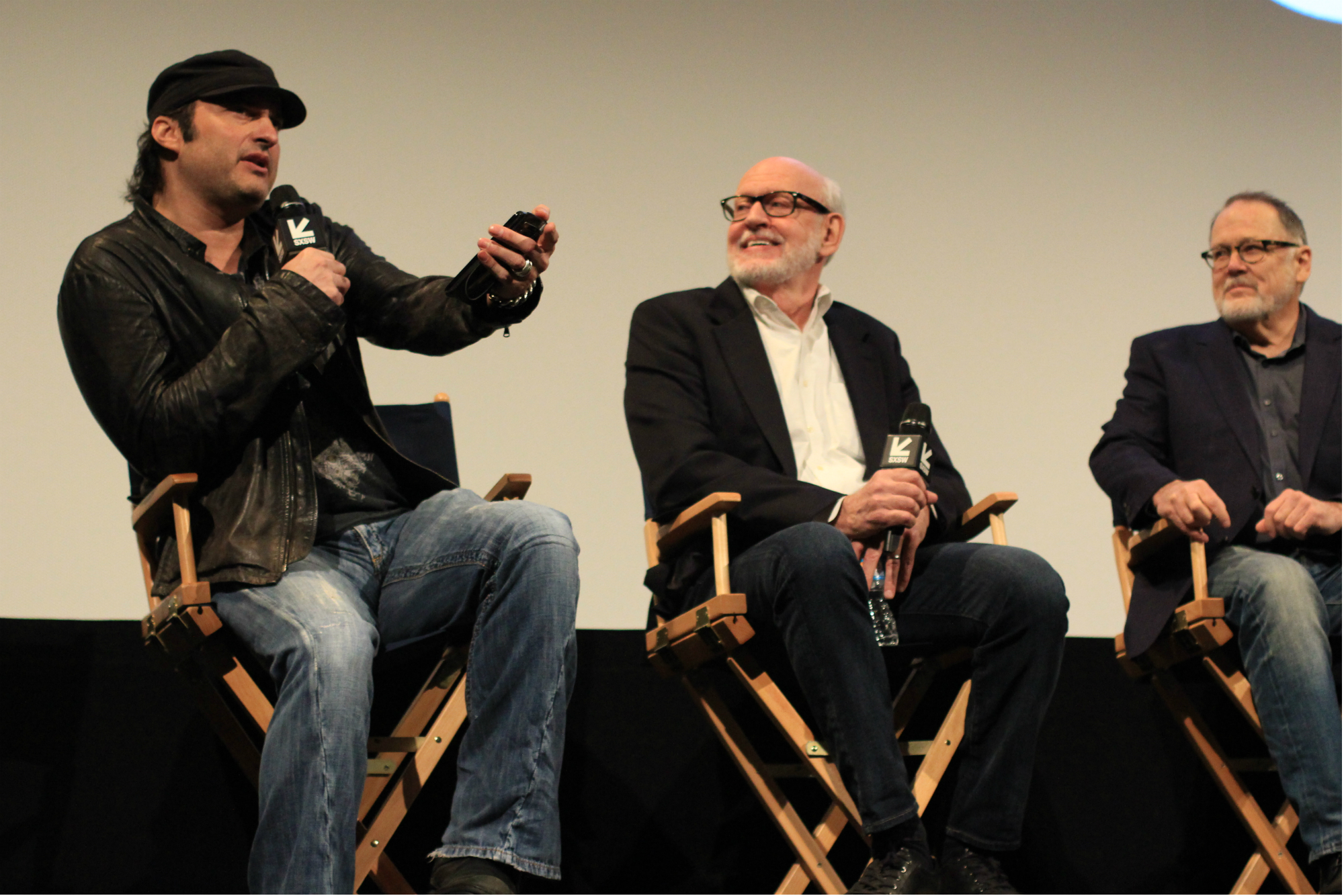 Robert Rodriguez, Frank Oz, and Dave Goelz // Muppet Guys Talking // Photo by Heather Kaplan