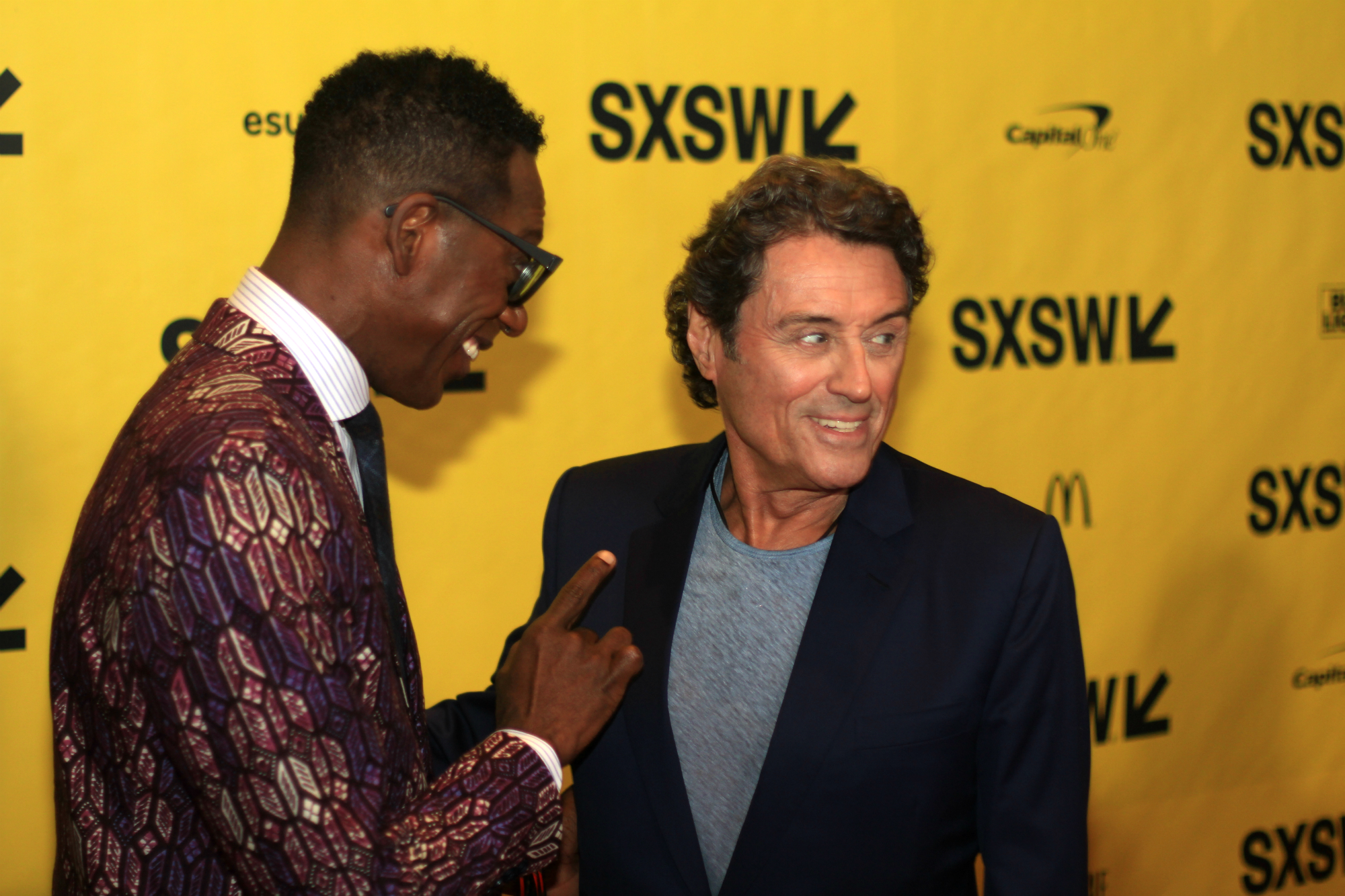 Orlando Jones and Ian McShane // American Gods // Photo by Heather Kaplan