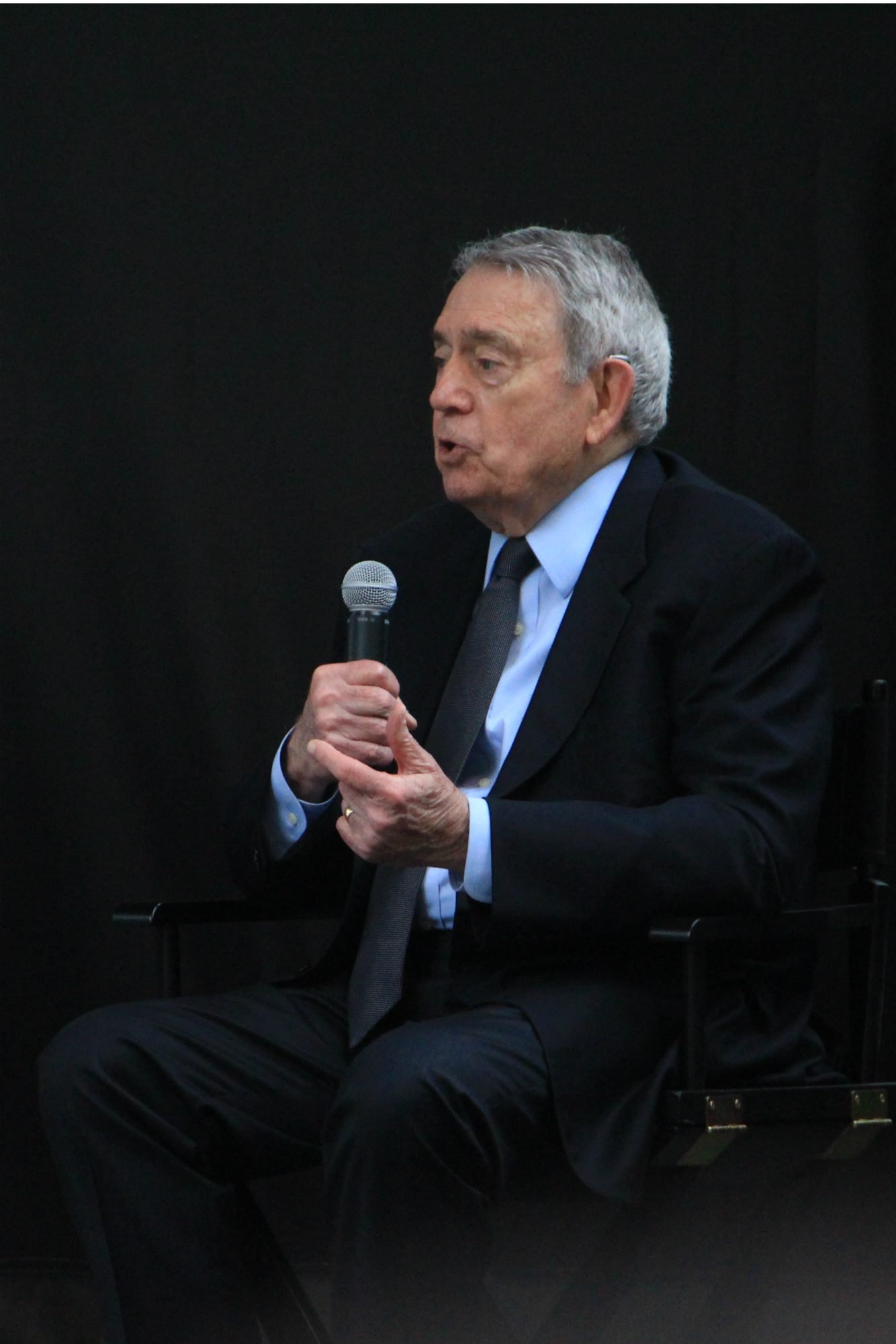 Dan Rather // The New York Times Panel // Photo by Heather Kaplan