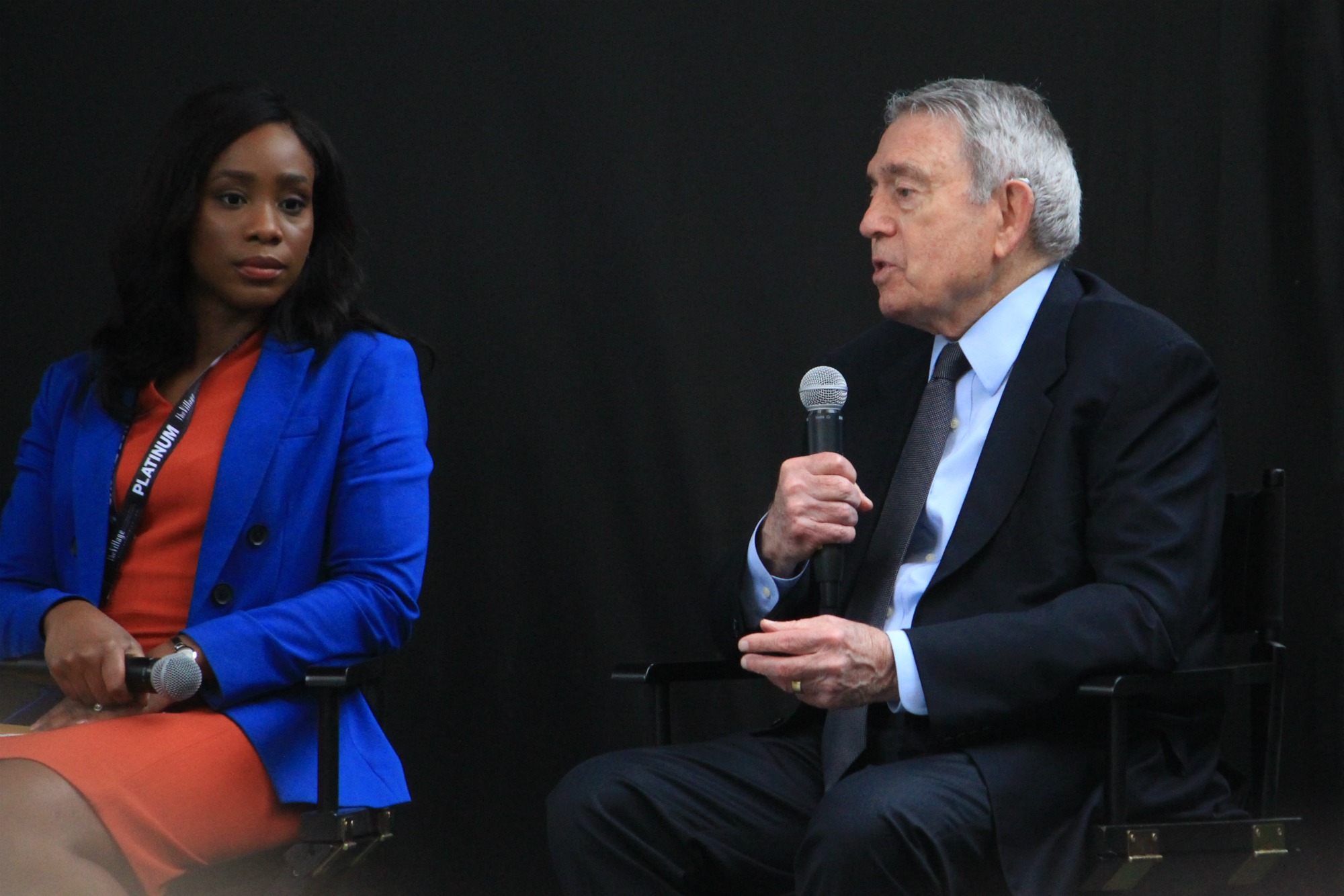 Dan Rather and Abby D. Phillip // The New York Times Panel // Photo by Heather Kaplan