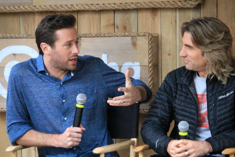 Armie Hammer and Sharlto Copley // Free Fire Panel // Photo by Heather Kaplan