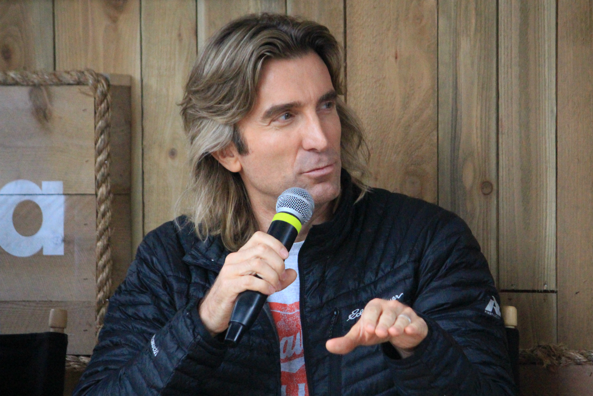 Sharlto Copley // Free Fire Panel // Photo by Heather Kaplan