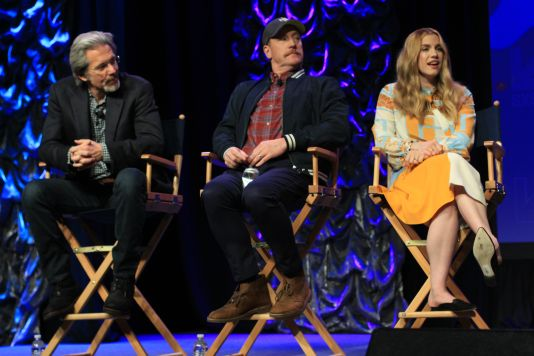 Gary Cole, Matt Walsh, and Anna Chlumsky // HBO's Veep Panel // Photo by Heather Kaplan