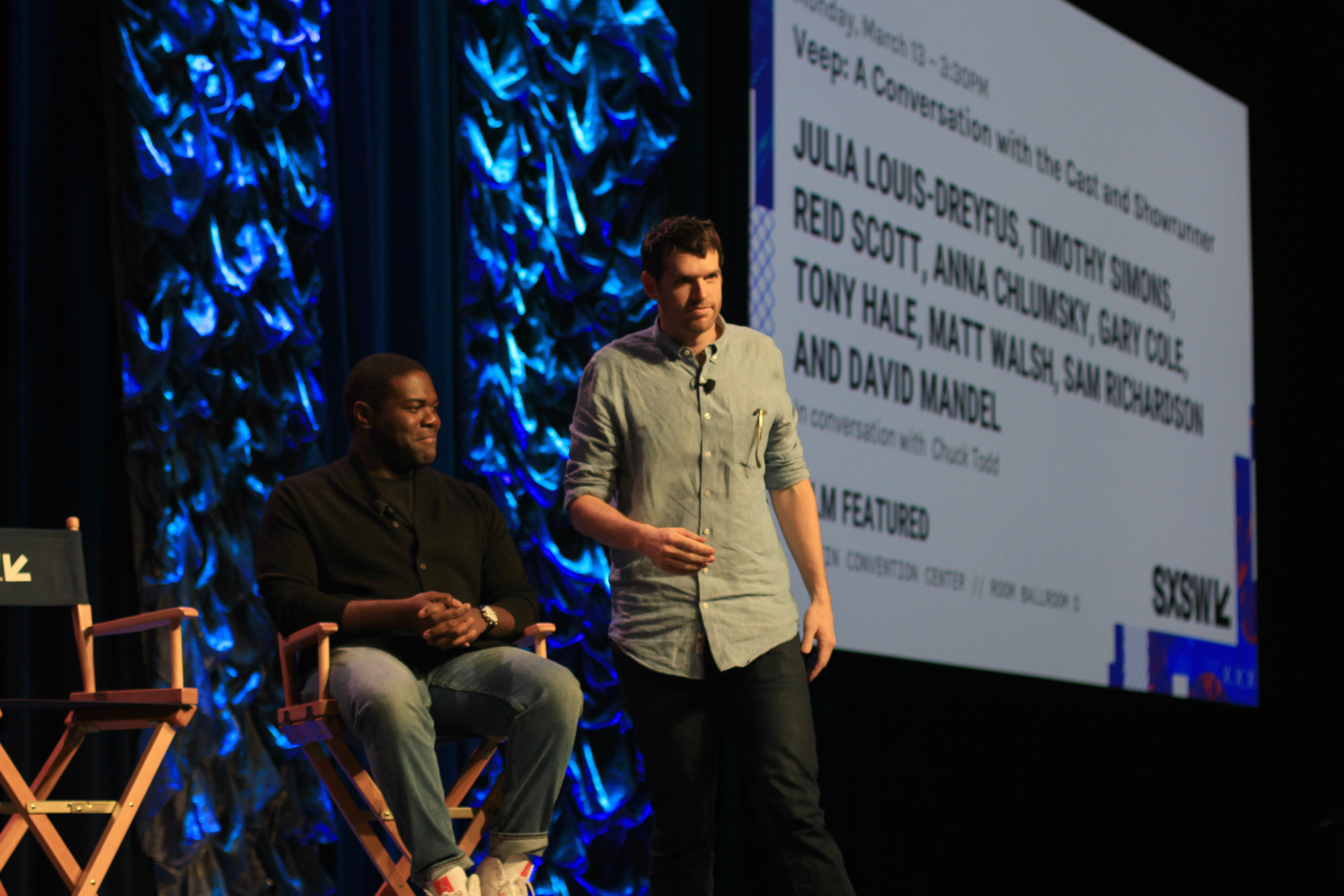 Sam Richardson and Timothy Simons // HBO's Veep Panel // Photo by Heather Kaplan
