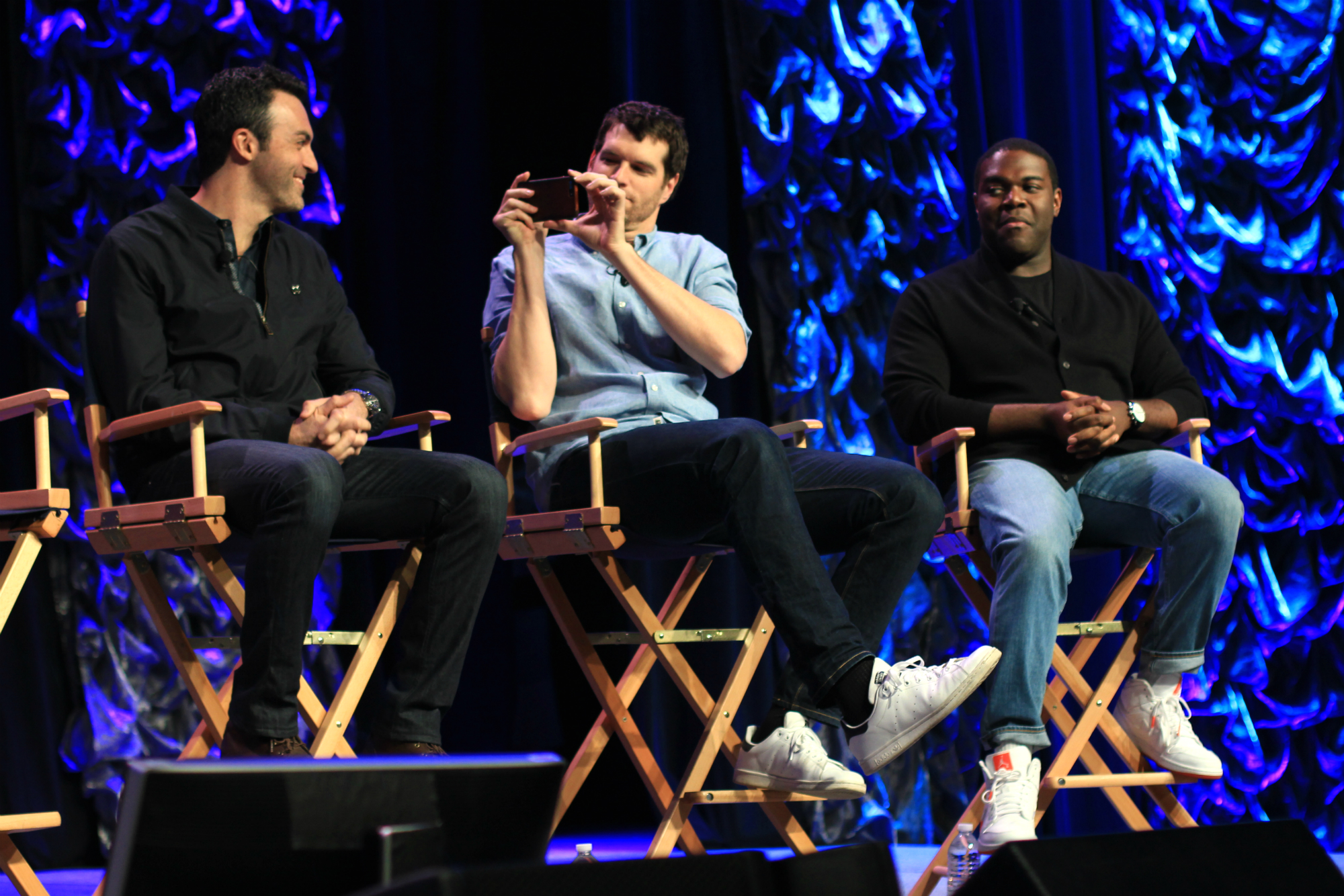 Reid Scott, Timothy Simons, and Sam Richardson // HBO's Veep Panel // Photo by Heather Kaplan