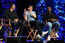 Reid Scott, Timothy Simons, and Sam Richardson // HBO's Veep Panel // Photo by Heather Kaplan