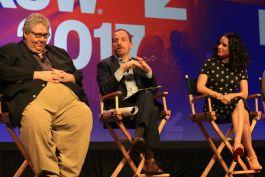 David Mandel, Chuck Todd, and Julia Louis Dreyfus // HBO's Veep Panel // Photo by Heather Kaplan