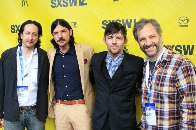 Michael Bonfiglio, Seth and Scott Avett, Judd Apatow // May It Last // Photo by Heather Kaplan