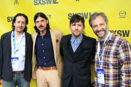 Michael Bonfiglio, Seth and Scott Avett, Judd Apatow // May It Last // Photo by Heather Kaplan