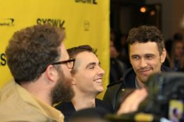 Seth Rogen, Dave Franco, and James Franco // The Disaster Artist // Photo by Heather Kaplan