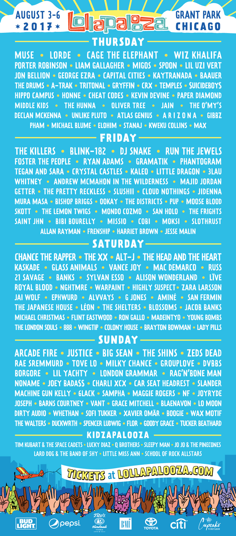 lollapalooza 2017 Lollapaloozas 2017 Lineup: One Day Later