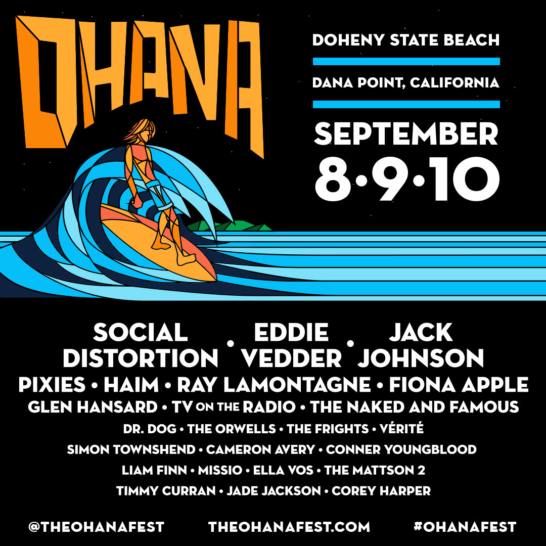 Eddie Vedder, Fiona Apple, TV on the Radio to play Ohana Music Festival 2017