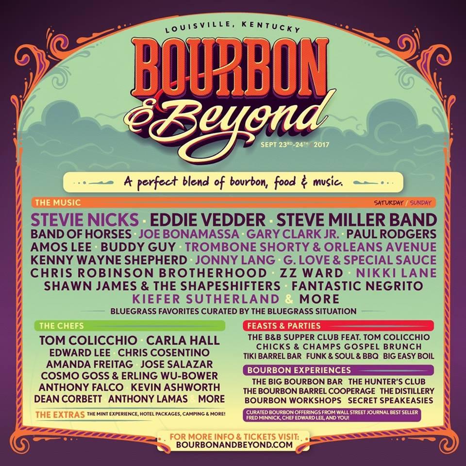 bourbon beyond Eddie Vedder, Stevie Nicks to headline inaugural Bourbon and Beyond Festival