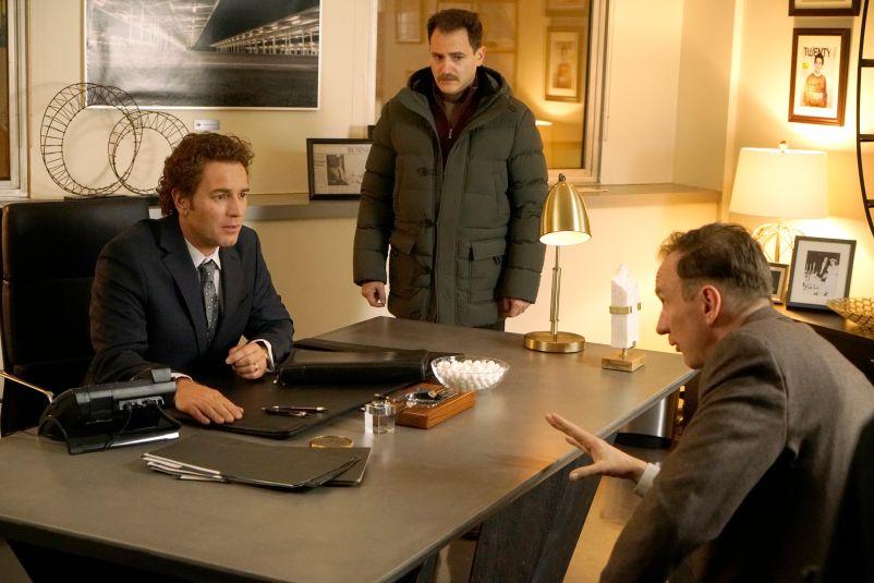 FARGO -- Year 3 -- Pictured (l-r): Ewan McGregor as Emmit Stussy, Michael Stuhlbarg as Sy Feltz, David Thewlis as V.M. Vargas. CR: Chris Large/FX