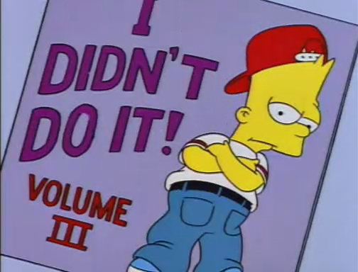 i didnt do it The Simpsons Top 30 Episodes