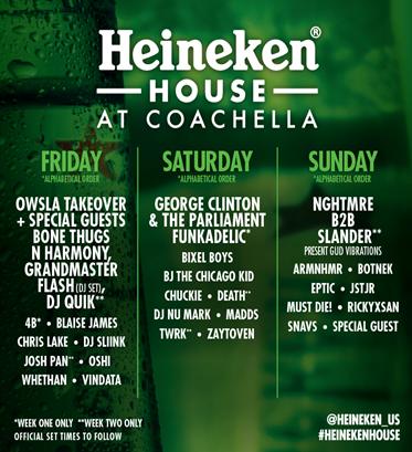 image002 George Clinton, BJ the Chicago Kid, Bone Thugs N Harmony to play Coachellas Heineken House