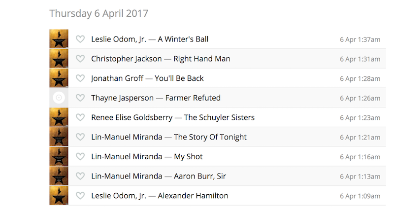 jared kushner lastfm scrobble april 2017 hamilton mixtape Jared Kushners alleged Last.fm profile is a gold mine of hypocrisy