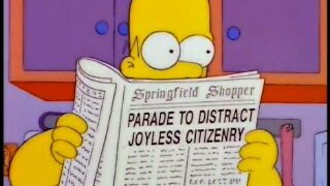 parade to distract The Simpsons Top 30 Episodes