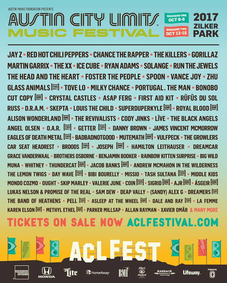 18222579 10154566186483030 4678337350012362724 n Austin City Limits reveals 2017 lineup: Gorillaz, Chance the Rapper, Chili Peppers to headline
