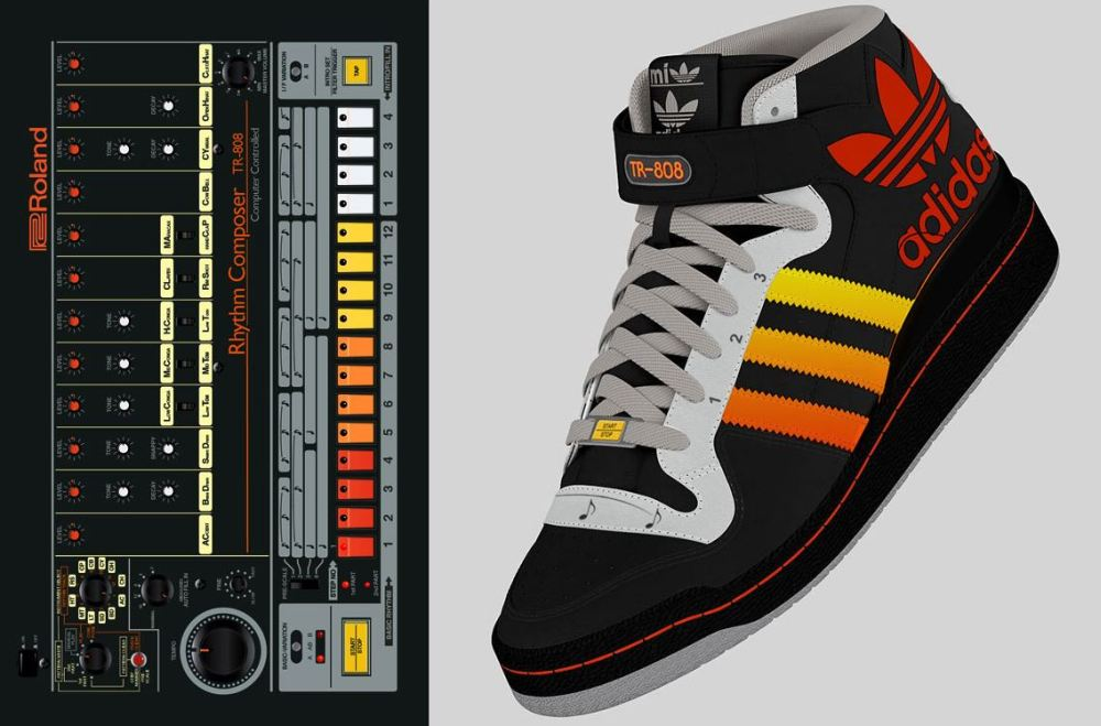 adidas tr 808 prototype 3 This adidas shoe design has a  Roland TR 808 drum machine built right in