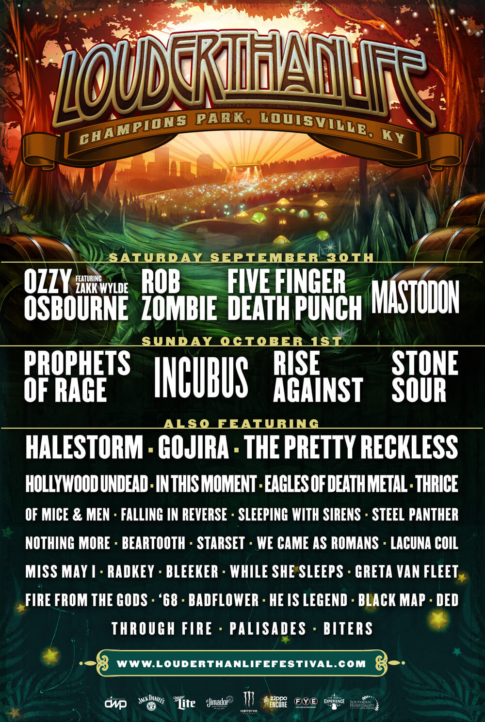 louder than life Louder Than Life reveals 2017 lineup: Ozzy Osbourne, Prophets of Rage, Incubus, and Mastodon