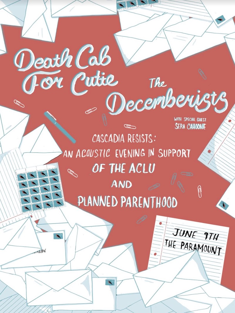 planned parenthood benefit dcc decemberists Death Cab for Cutie and The Decemberists to headline ACLU, Planned Parenthood benefit show