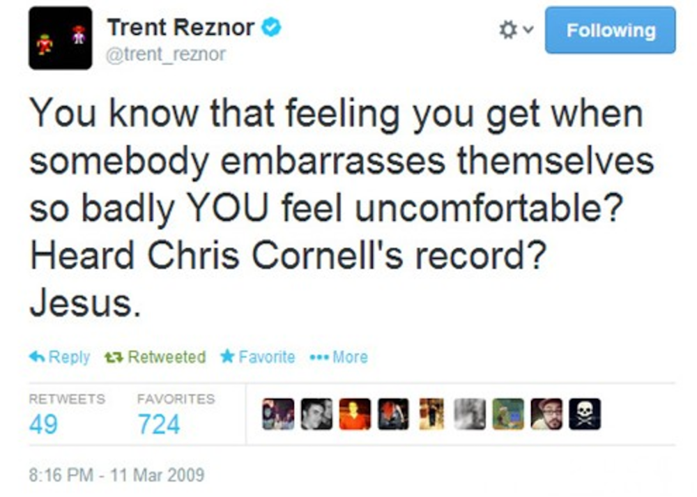 trent reznor diss cornell scream album Trent Reznor apologized for his harsh comments about Chris Cornells Scream album