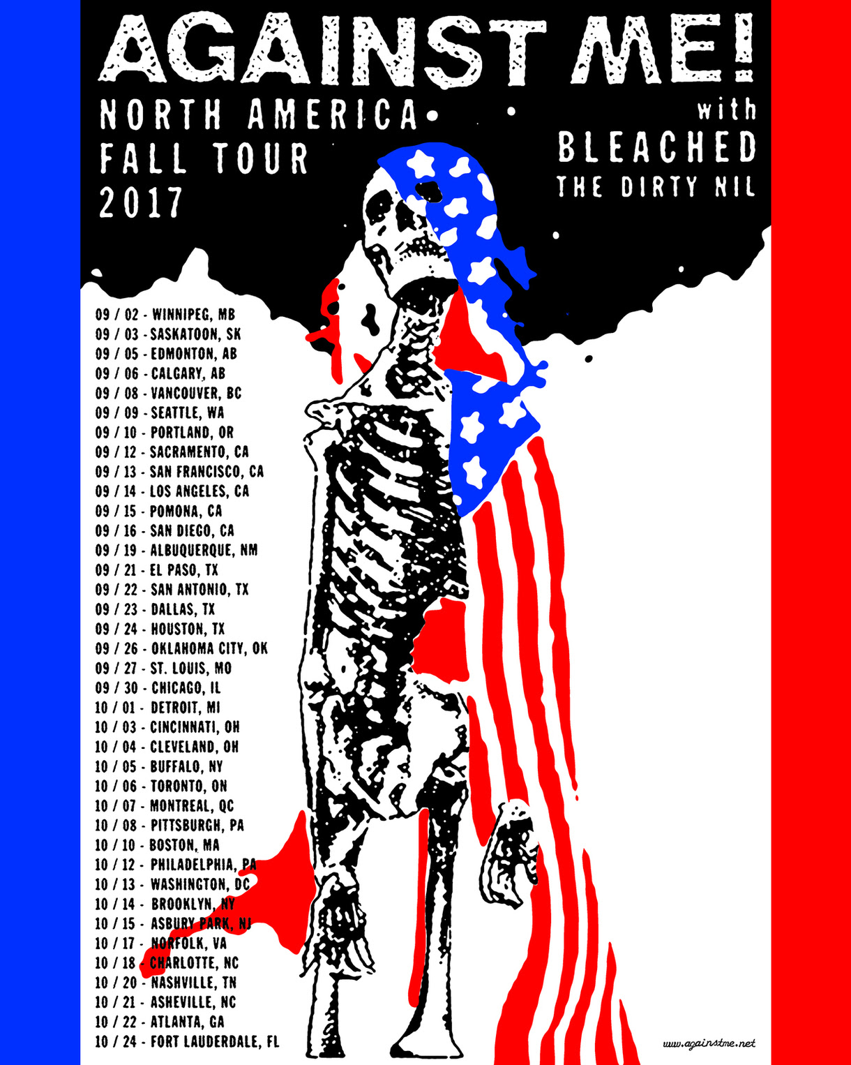unnamed 13 Against Me! announce North American tour with Bleached