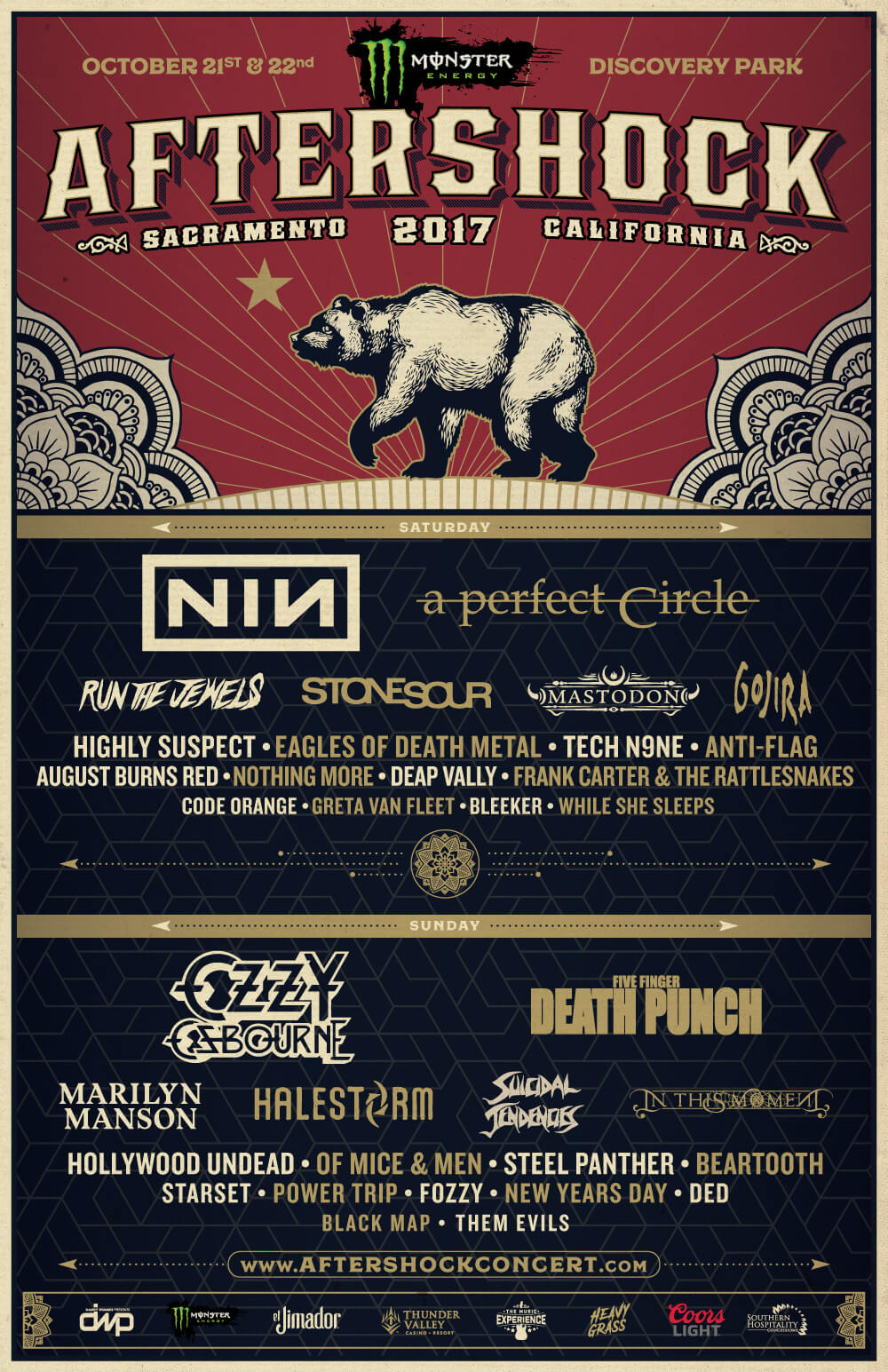 aftershock 17 Aftershock Festival 2017: Nine Inch Nails, A Perfect Circle, Marilyn Manson highlight lineup