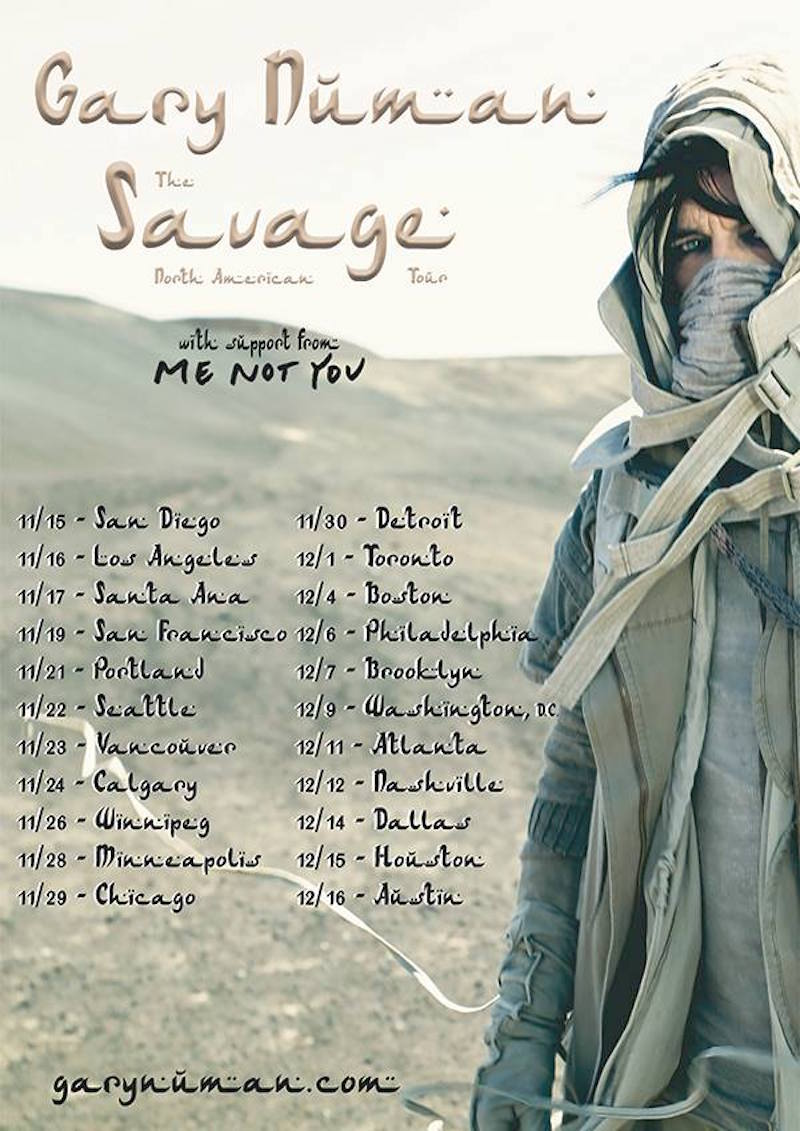 gary numan north american tour Gary Numan announces 2017 North American tour